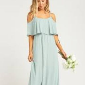 Show Me Your Mumu Caitlin Dress in Silver Sage